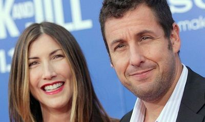 Adam Sandler with his wife Jackie Sandler