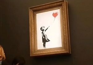 Red Balloon Girl Robin Gunningham (Banksy)