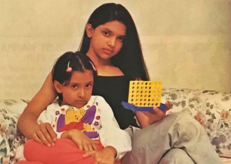 Anisha Padukone's and Deepika Padukone's childhood picture