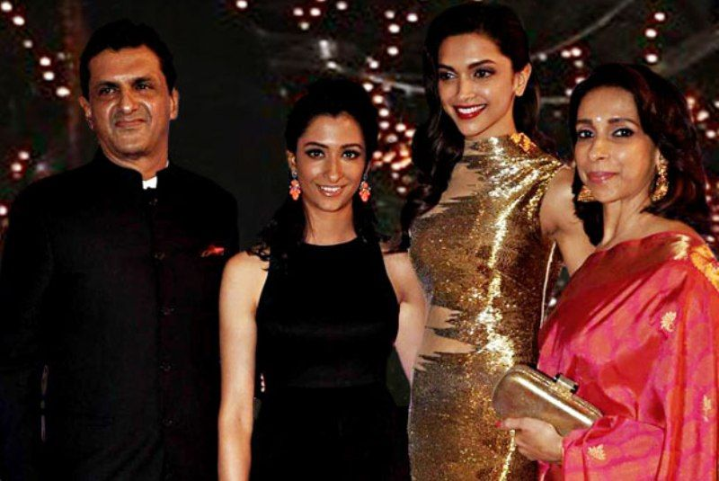 Anisha Padukone with her family