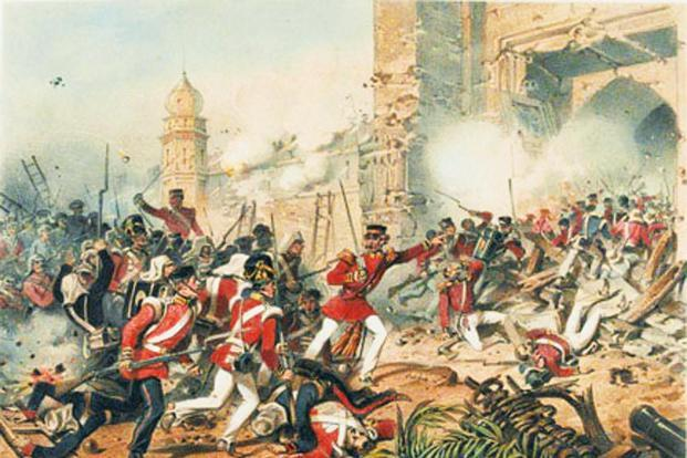 The depiction of the Revolt of 1857