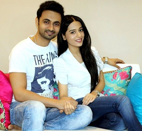 Amrita Rao with her husband RJ Anmol