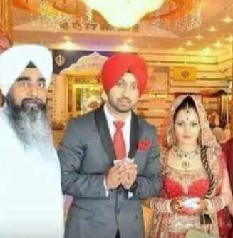 Diljit Dosanjh with his wife